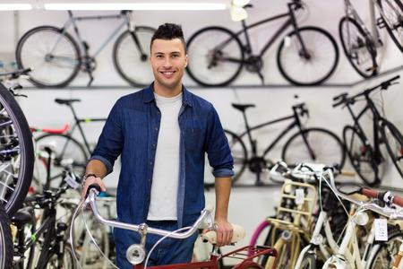 shop assistant: Salesman in bicycle shop