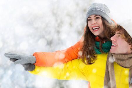 winter couple: Winter couple