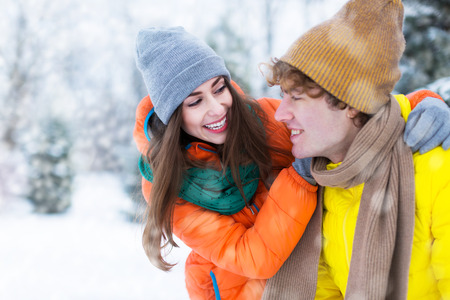 couple winter: Winter couple