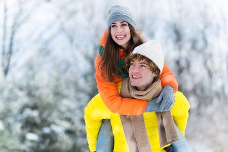teen love: Winter couple