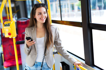 Woman in bus
