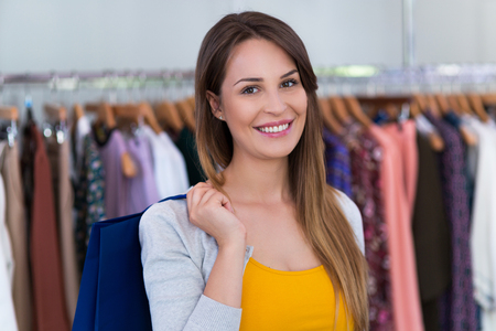 clothing store: Woman in clothing store