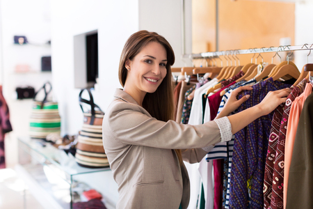 boutique: Woman shopping in a boutique