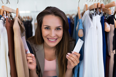 boutique: Woman shopping in a clothing store