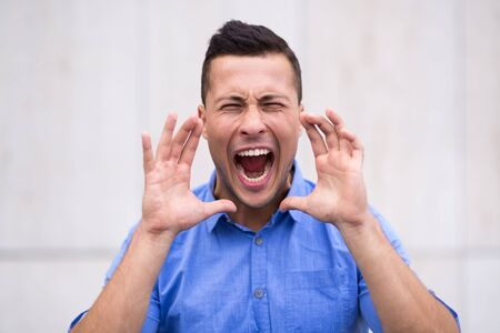 man screaming: man screaming Stock Photo