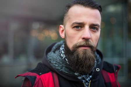 man style: Young guy with a beard