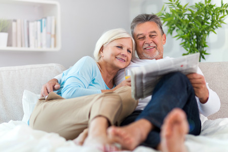 couple home: Senior couple at home