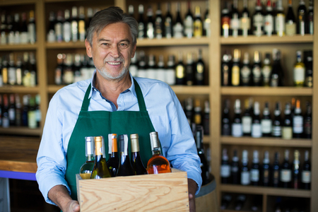 Wine Shop Owner Stock Photo