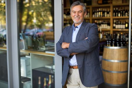 Wine Shop Owner Archivio Fotografico