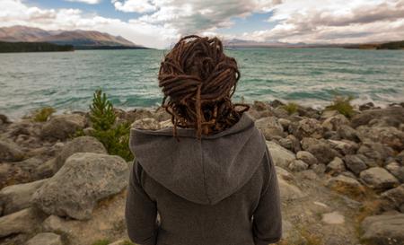 景色、ニュージーランドの女性