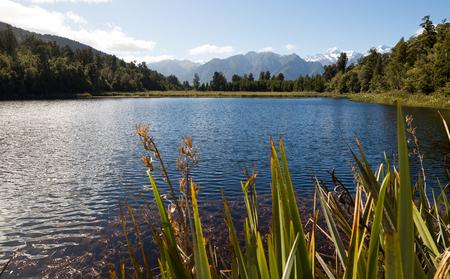 Beautiful lake in South Island, New Zealand