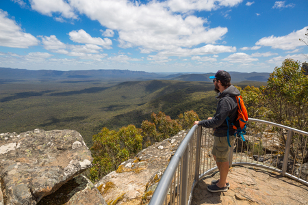 Man looking at view, Australia photo