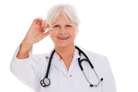 Mature female doctor smiling
