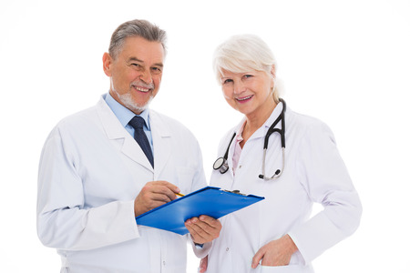 Male and female doctors Stock Photo