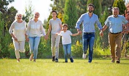 La famille en plein air