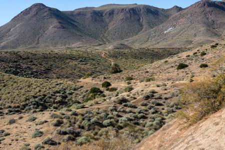 Landscape in Natural Park of Cabo de Gata - Nijar, Andalucia, Spain Stock Photo