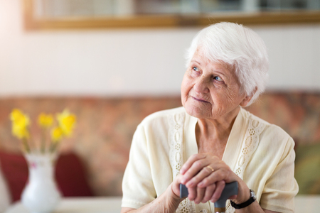 Portrait of an elderly woman Imagens