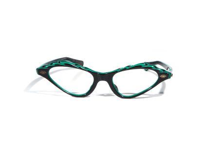 Fifties upswept retro eyeglasses isolated on white