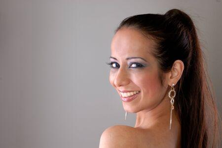 captivating: captivating portrait of glamorous lady with beautiful eyes Stock Photo