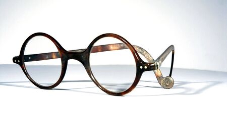 tortoiseshell: Antique real tortoiseshell rounde eye spectacles