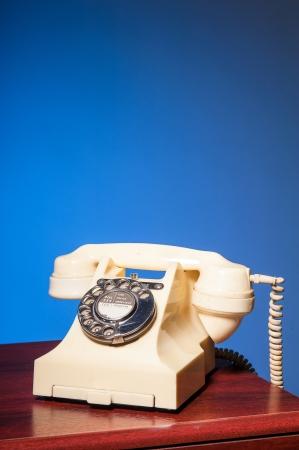 Fifties antique British ivory color bakelite telephone GPO 332L Stock Photo - 23789027
