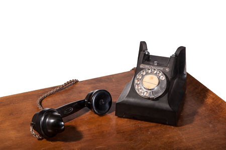Vintage UK General Post Office 332 Director Telephone (Handset Micro Telephone) circa 1946 - handset off hook Stock Photo - 23806331