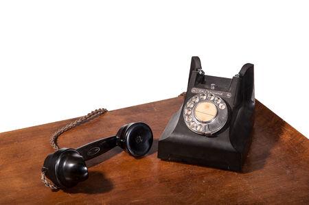 Vintage UK General Post Office 332 Director Telephone (Handset Micro Telephone) circa 1946 - handset off hook Stock Photo - 23806331