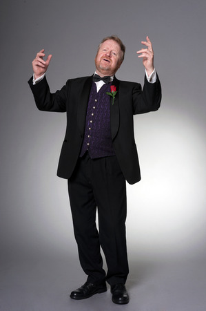 male middle aged opera singer - full length photo
