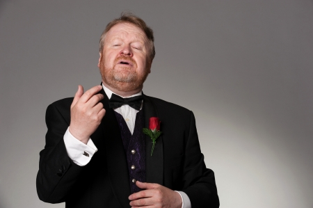 impassioned: male middle aged opera singer