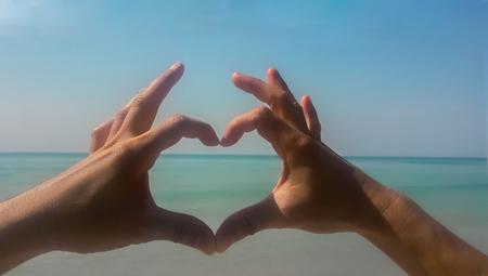 Hearth symbol in sea and sky