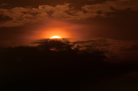 Sunset over sea landscape