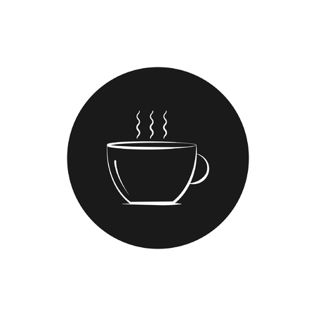 round vectour icon of coffee cup design- Vector