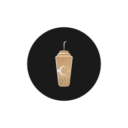 Bubble milk tea design Фото со стока - 123335472