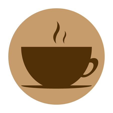 round vector icon of coffee design