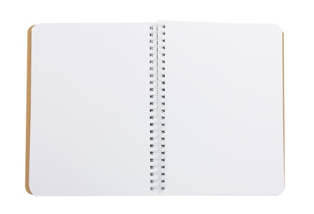 notebook with clean pages on a white background photo