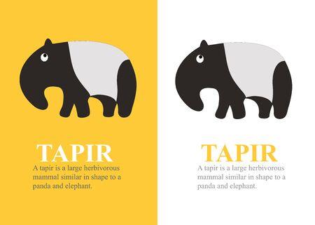 A vector cartoon tapir.
