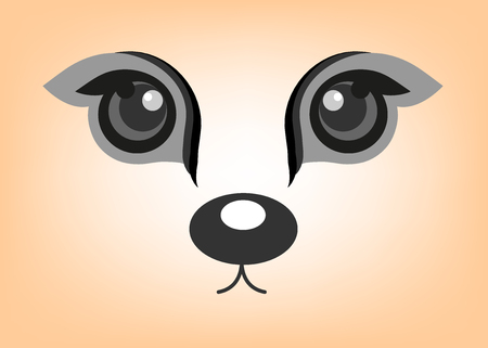 A vector cartoon eyes of animal.