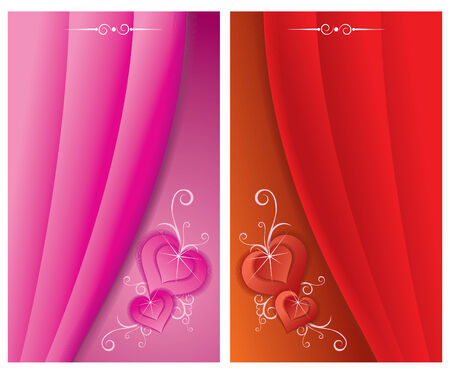 Two beauty  cards Stock Vector - 6835318