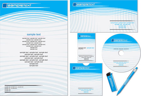 Corporate identity  template easy editable (flat colors without gradients) Vector