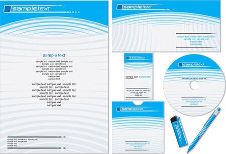 papier en t�te: Identit� corporative mod�le facilement modifiable (couleurs mates sans gradients) Illustration