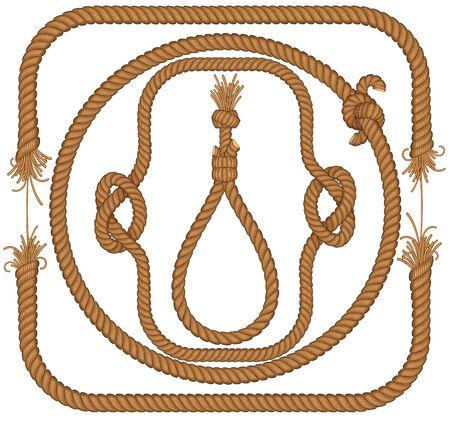 Collection de trames de corde tordue