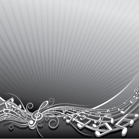 popular music concert: Abstract background musicale per il testo o la progettazione  Vettoriali