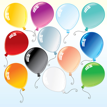 ballon: Beauty colorful isolated balloons for your design