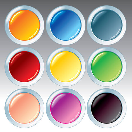 Blank buttons for your design Stock Vector - 7491657