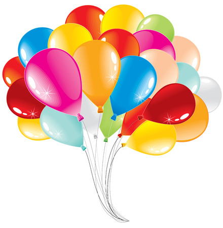 air baloon: Bunch of anniversary balloons-vector illustration Illustration