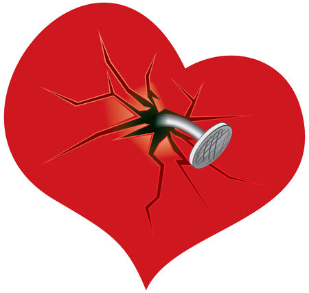 heart attacks: Crashed heart -vector illustration