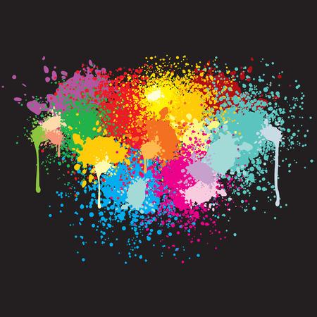 spatters: Sfondo con simboli di vernice per il testo