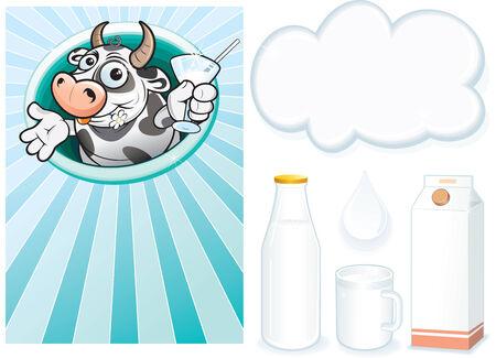 vacas lecheras: Leche - elementos de dise�o