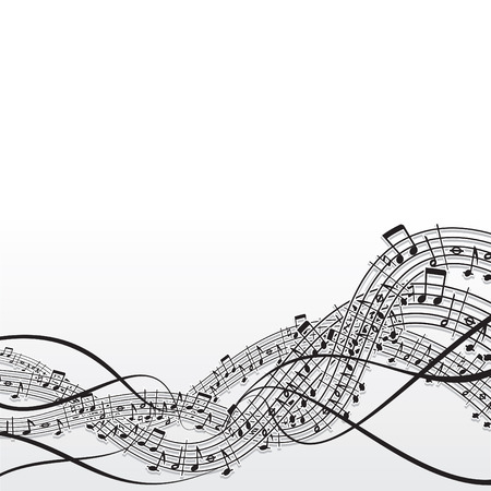 musical notation: Music abstract vector background