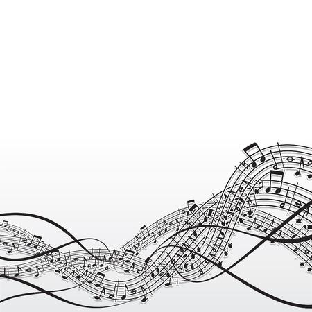 geluidsgolven: Muziek abstract vector achtergrond  Stock Illustratie